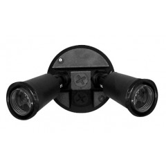 55-013 Twin PVC Lamp Holder Pack E27 (Black)