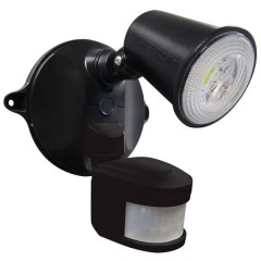 55-137 LED Spotlight 10W With Motion Sensor (Black)