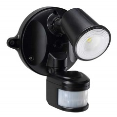 55-152 LED Spotlight 10W With Motion Sensor (Black)