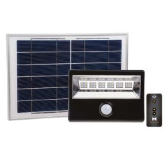 56-128R Led Solar Floodlight 28W With Motion Sensor & Remote Control (Black)