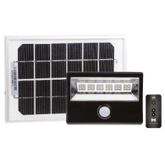 56-129R LED Solar Floodlight 16W With Motion Sensor & Remote Control (Black)
