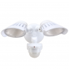 55-229 Twin LED Spotlight 40W With Motion Sensor (White)