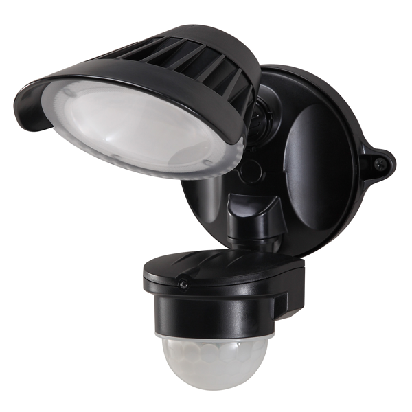 55-144 Single LED Spotlight 20W With Motion Sensor (Black)