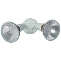 Twin Lamp Holder Pack with CFL Lamp (White)
