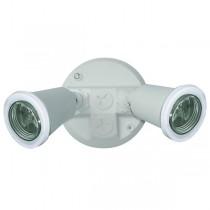 55-014 Twin PVC Lamp Holder Pack E27 (White)