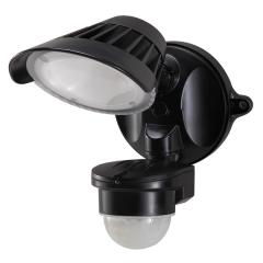 55-144 Single LED Spotlight 20W With Motion Sensor (Black)